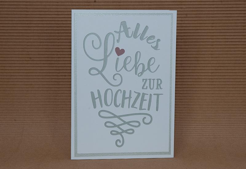 Hochzeitskarte Plotterwelt